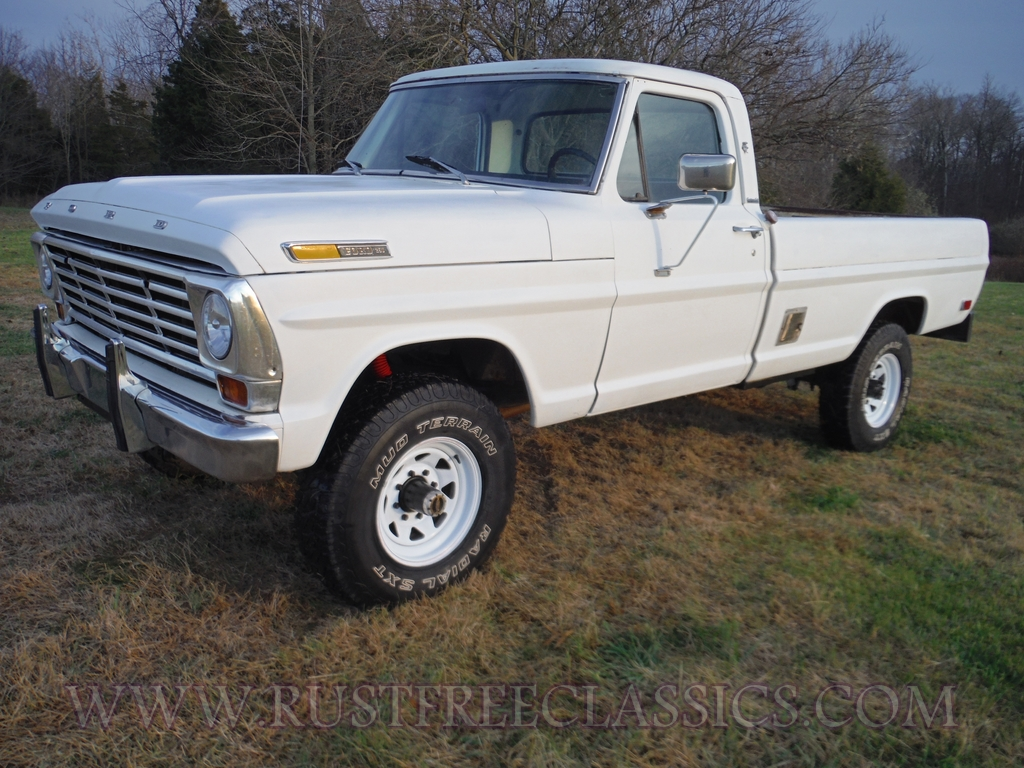 1968 F250 Highboy Custom Cab White 68